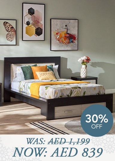 Elements bed with storage